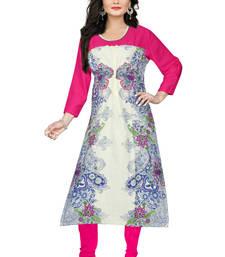 Buy Multicolor printed rayon multicolor-kurtis multicolor-kurti online