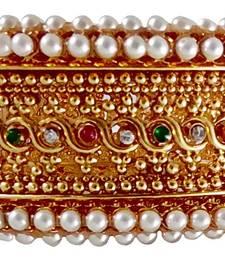 Buy Gold Plated Antique Kada For Women bangles-and-bracelet online