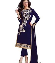 Buy Blue embroidered chanderi salwar black-friday-deal-sale online
