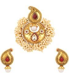 Buy Pearl set jewellery pearl necklaces set bridal jewellery sets Pendant online