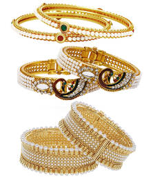 Buy Gold pearl jewellery-combo black-friday-deal-sale online