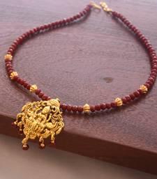 Buy Maroon crystal necklaces Necklace online