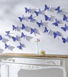 Buy Blue 3D Butterflies' Wall Sticker (13 cm X 15 cm) wall-decal online