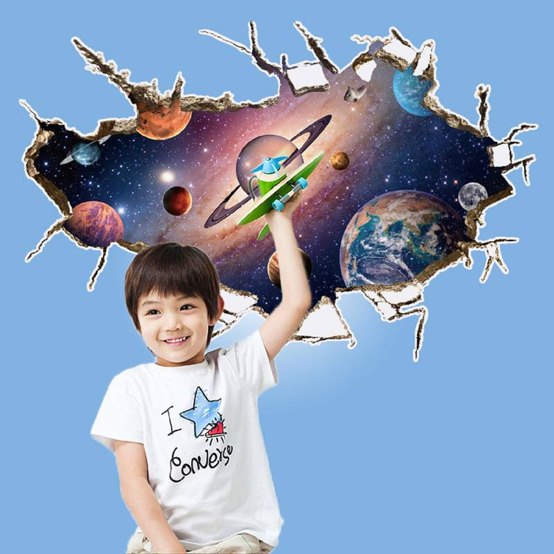 Buy 3d visual space planet 39 wall sticker 60 cm x 90 cm for Plante 90 cm