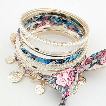 Floral Bangles Set -Blue(CFB0046)