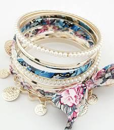 Buy Floral Bangles Set -Blue(CFB0046) bangles-and-bracelet online