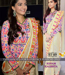 Buy Multicolor embroidered georgette saree with blouse sonam-kapoor-saree online