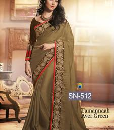 Buy Green embroidered chiffon saree with blouse tamanna-bhatia-saree online