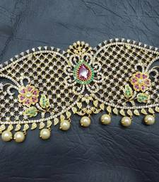 Buy Multicolor kundan waist-belt waist-belt online