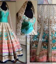 Buy Multicolor embroidered banarasi unstitched lehenga black-friday-deal-sale online