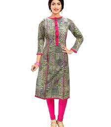 Buy multicolor printed cotton stitched kurtis cotton-kurti online