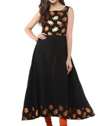 Buy Black Crepe printed kurti pakistani-kurti online