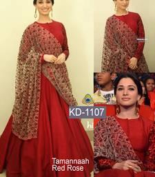 Buy Red embroidered crepe salwar bollywood-salwar-kameez-online online
