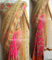 Buy Multicolor embroidered georgette saree with blouse heavy-work-saree online