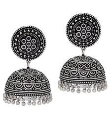 Buy Hot Sales Amazing New Look Handmade Oxidised Silver Tone Jhumka Earrings jhumka online