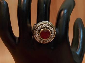 Vintage Traditional Ethnic Tribal Gipsy Maharani Ruby Ring