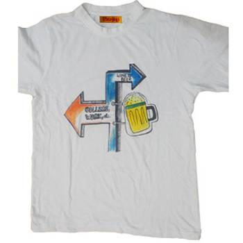 WINE AND BEER - T-SHIRT