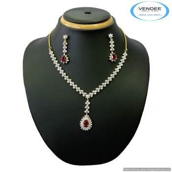 Vendee Leaf lot Fashion diamond necklace set (3976)