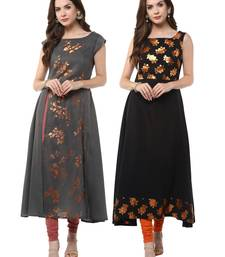 Buy Multicolor printed crepe kurtas-and-kurtis combo-kurtis online