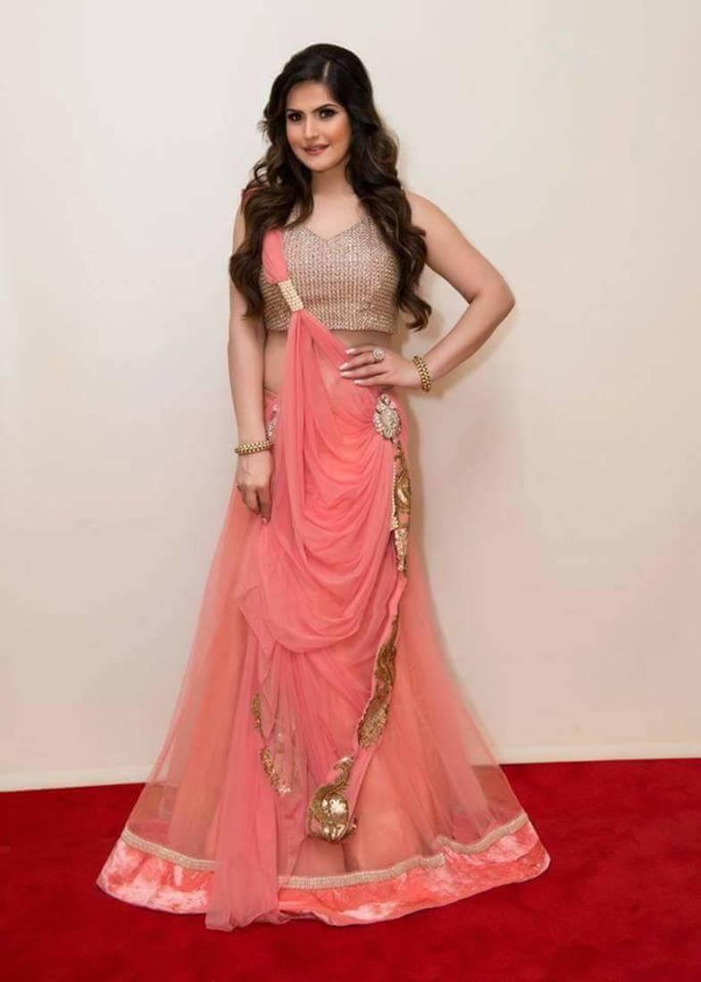 Buy Pink Embroidered Net Unstitched Lehenga Choli Online