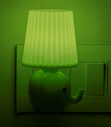 Buy Green Elephant Style Night Lamp table-lamp online