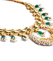 Buy Green pearl necklaces Necklace online