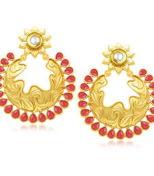 Buy Ritzy Gold Plated Chandbali Earring For Women danglers-drop online