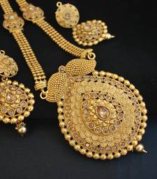 Buy Fine Intricate Design Long Necklace set wedding-season-sale online