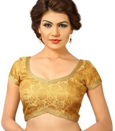 Buy Gold embroidred Brocade readymade-blouse readymade-blouse online