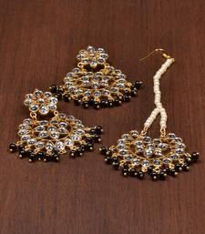 Buy Black pearl danglers-drops jewellery-combo online