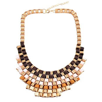 """""""Shades Of Brown """" Multicolor Statement Necklace For Womens"""