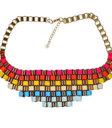 "Buy ""Shades Of Colors "" Multicolor Statement Necklace For Womens collar-necklace online"