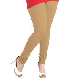 Buy Beige Churidaar Komal Cotton Leggings 213 legging online