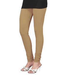 Buy Beige Churidaar Komal Cotton Leggings 215 legging online