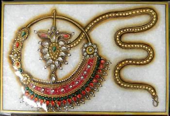 Marble Meenakari Kundan Painting- Nosering