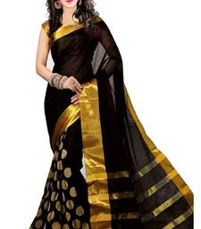 Buy Black printed bhagalpuri saree with blouse bhagalpuri-silk-saree online
