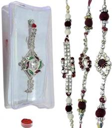 Buy Cherished of four ad and bracelet rakhis bracelet-rakhi online