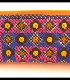 Buy Multicolour Cotton embroidered clutches clutch online