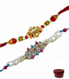 Buy Of two stone and beads rakhi express-rakhi online