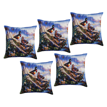 Buy Multicolor printed cushion cover set of five line