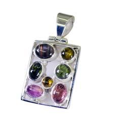 Buy refined Tourmaline Silver Multi pendant wholesale gemstone-pendant online