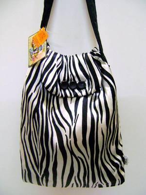Satin Zebra Tote