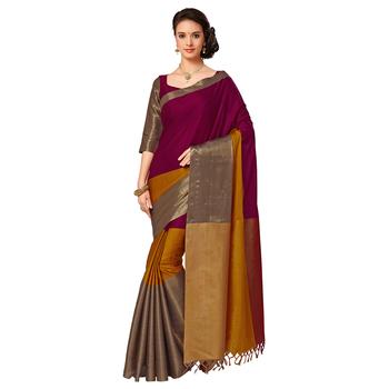 Multicolor mysore  silk saree with blouse