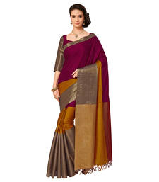 Buy Multicolor mysore  silk saree with blouse south-indian-saree online