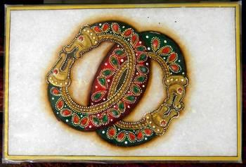 Marble Meenakari Kundan Painting- Bangles