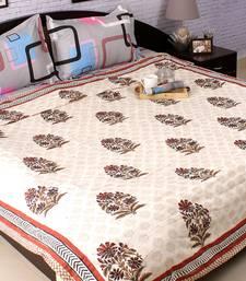 Buy Paradise Floral Block Print Pure Cotton Duvet Cover duvet-cover online