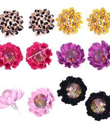 Buy Multicolor cubic zirconia earrings combo-earring online