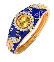 Buy Blue cubic zirconia bracelets karva-chauth-gift online