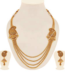 Buy Gold pearl necklaces necklace-set online