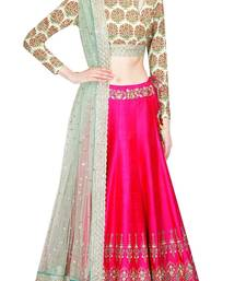 Buy Pink embroidered georgette stitched lehenga bollywood-lehenga online